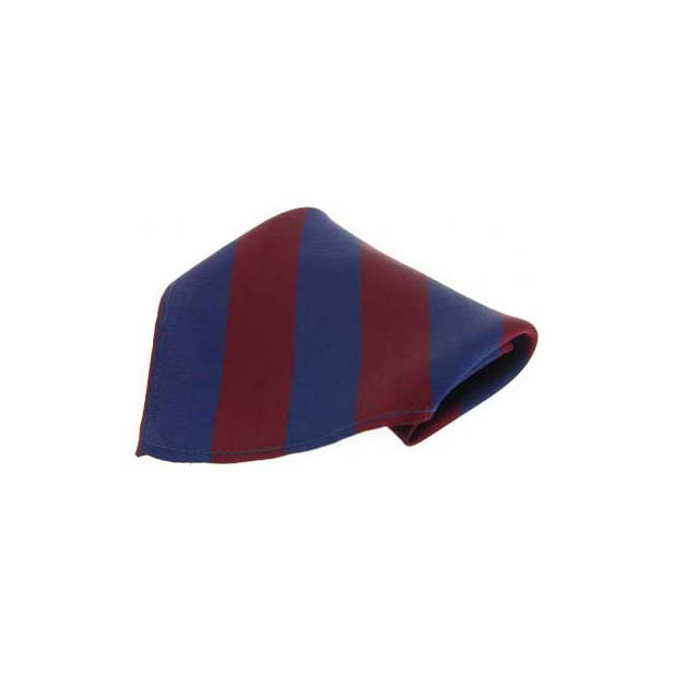 Wine and Blue Stripes Silk Pocket Square