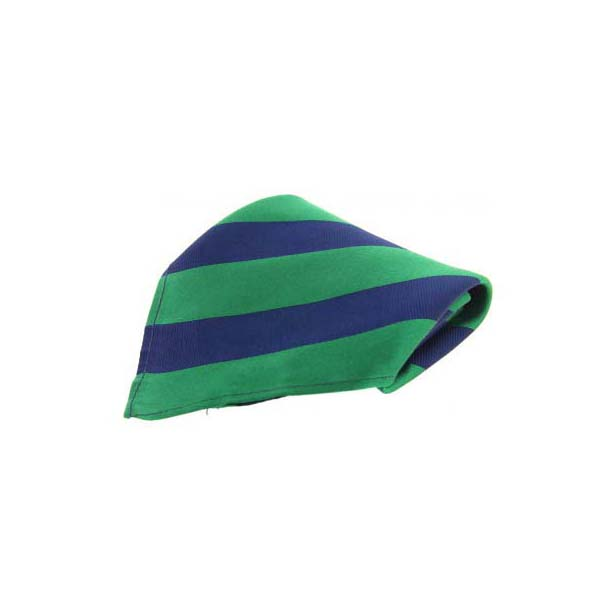 Green and Blue Stripes Silk Pocket Square