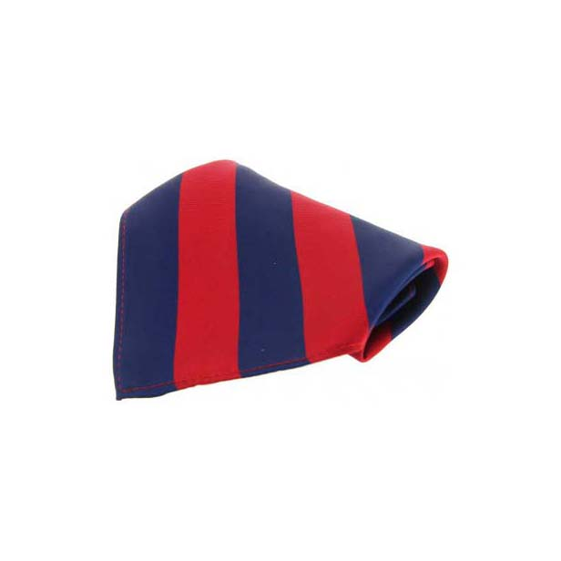 Red and Navy Stripes Silk Pocket Square