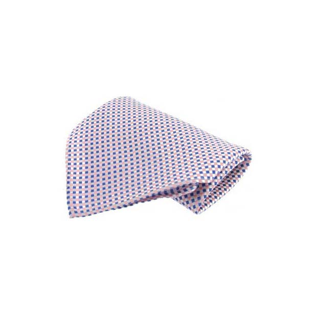 Small Pink and Blue Silk Pocket Square