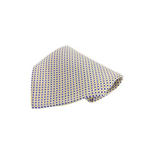 Small Yellow and Blue Silk Pocket Square