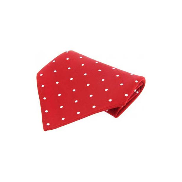 Red & White Polka Dots Silk Pocket Square