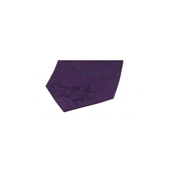 Purple Paisley Silk Pocket Square