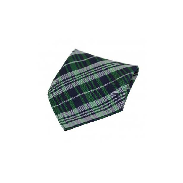 Green Tartan Pattern Silk Pocket Square