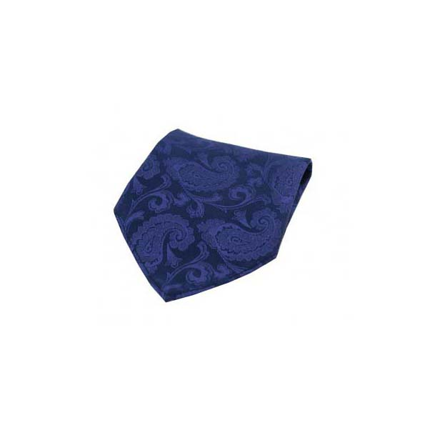 Royal Blue Paisley Silk Pocket Square