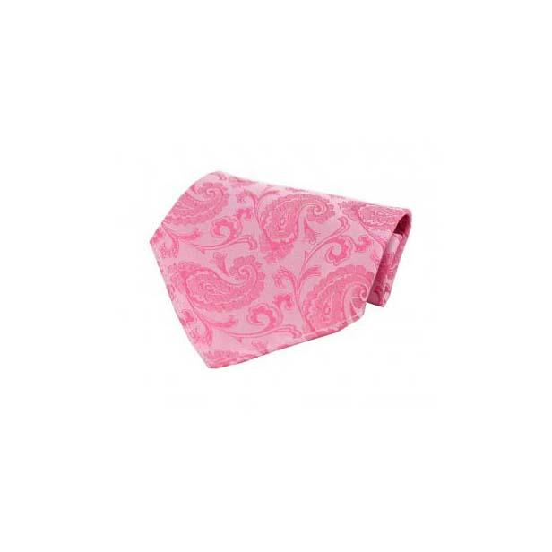 Fuchsia Paisley Silk Pocket Square