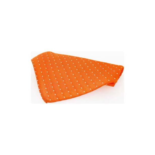 Orange and White Pin Dots Silk Pocket Square