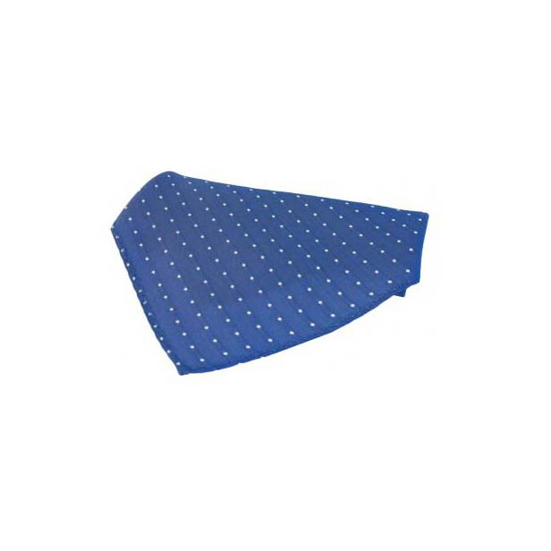Blue With White Pin Dots Silk Pocket Square