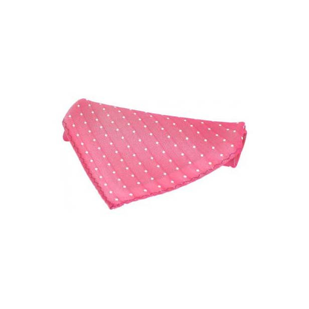 Pink With White Pin Dots Silk Pocket Square
