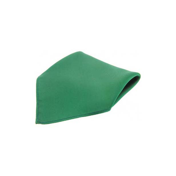 Plain Emerald Green Fine Twill Silk Pocket Square