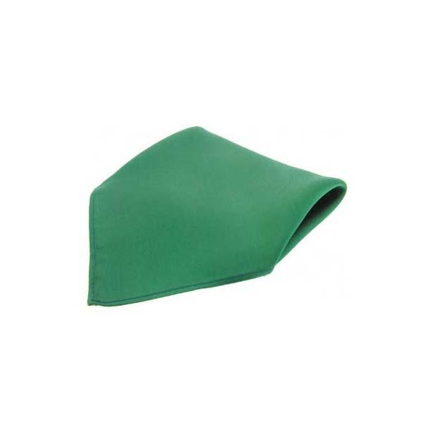 Plain Emerald Green Fine Twill Silk Pocket Square