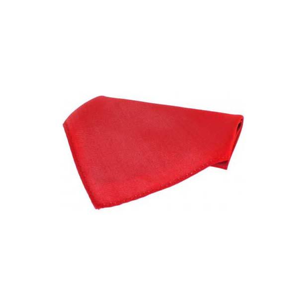 Plain Crimson Red Fine Twill Silk Pocket Square