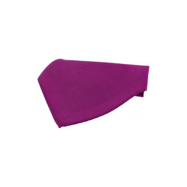 Plain Magenta Fine Twill Silk Pocket Square