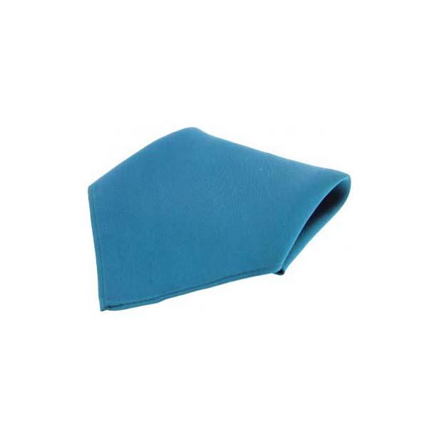 Plain Petrol Blue Fine Twill Silk Pocket Square