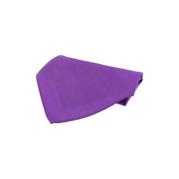 Plain Lilac Fine Twill Silk Pocket Square