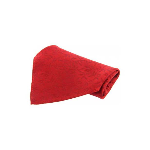 Red Leaf Patterned Silk Pocket Square