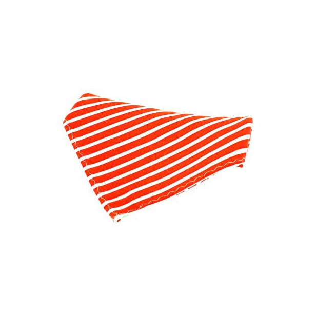 Orange Striped Silk Pocket Square