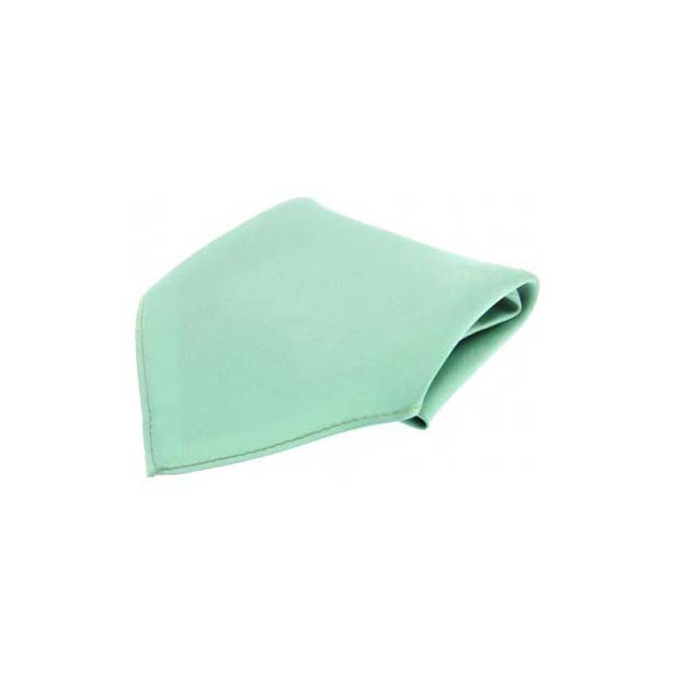 Mint Green Plain Satin Silk Men's Pocket Square