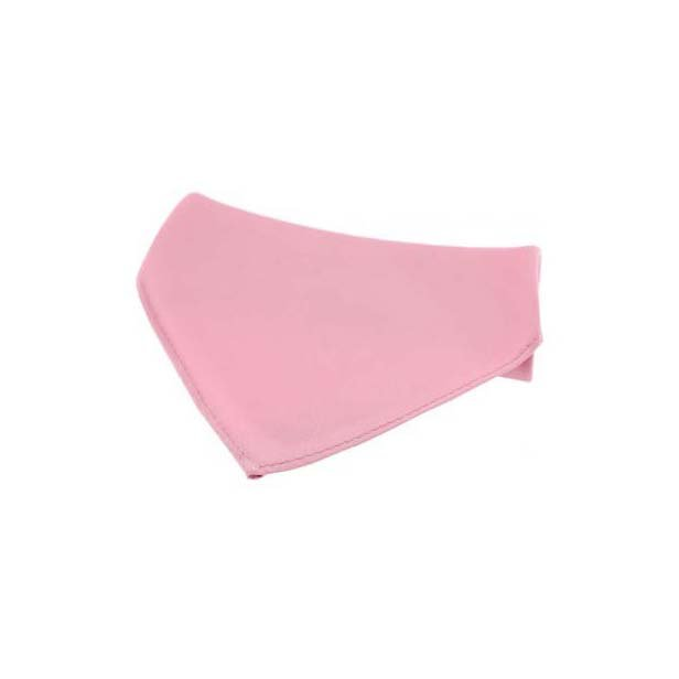 Pink Plain Satin Silk Men's Pocket Square