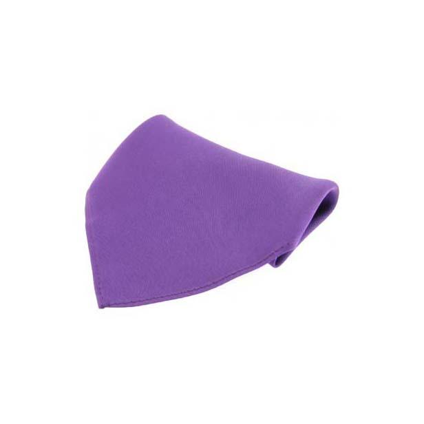 Purple Plain Satin Silk Men's Pocket Square