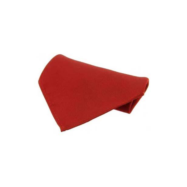 Red Plain Satin Silk Men's Pocket Square