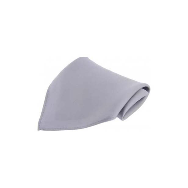 Silver Plain Satin Silk Men's Pocket Square