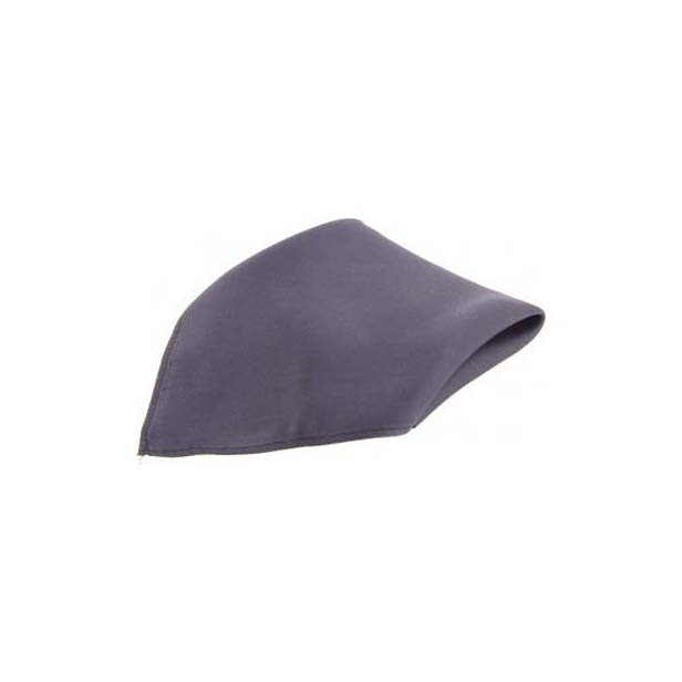 Dark Grey Satin Silk Men's Pocket Square
