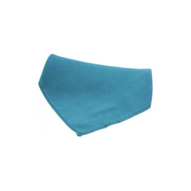 Teal Plain Satin Silk Men's Pocket Square