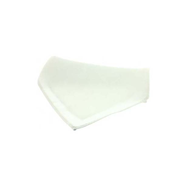 White Plain Satin Silk Men's Pocket Square