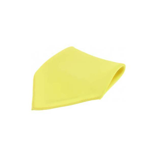 Canary Yellow Plain Satin Silk Men's Pocket Square