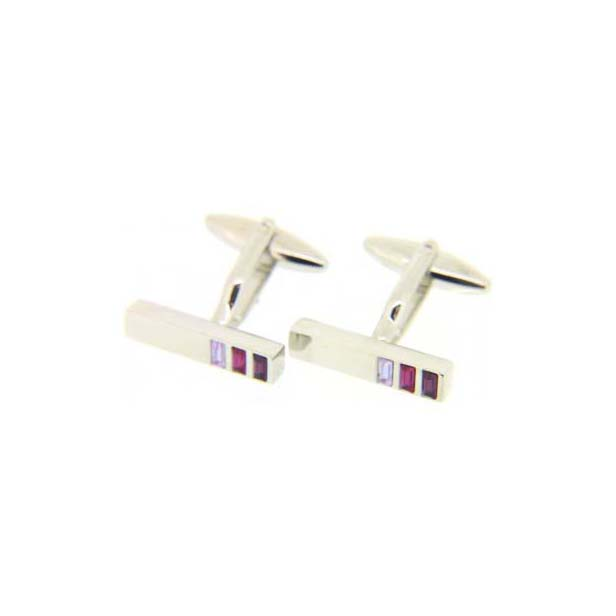Three-Shades Purple Shaded Cufflinks With Swivel Fitting