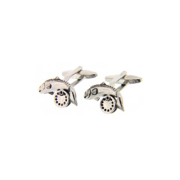 Fish And Reel Country Cufflinks