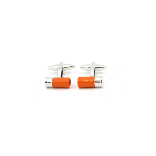 Orange Shotgun Cartridge Country Cufflinks