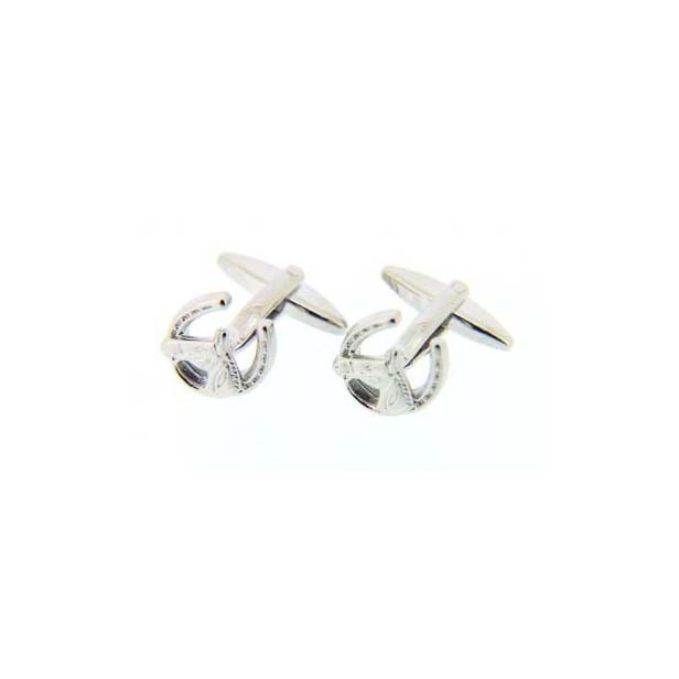 Horse and Horseshoe Silver Country Cufflinks