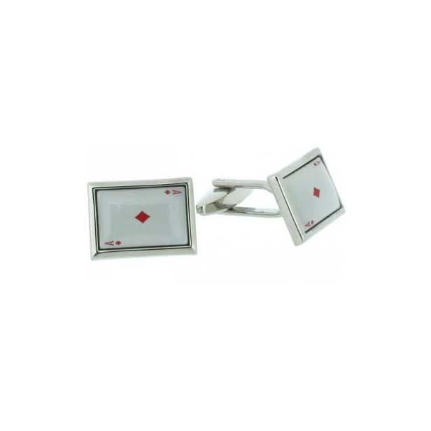 Ace Of Diamonds Enamelled Cufflinks