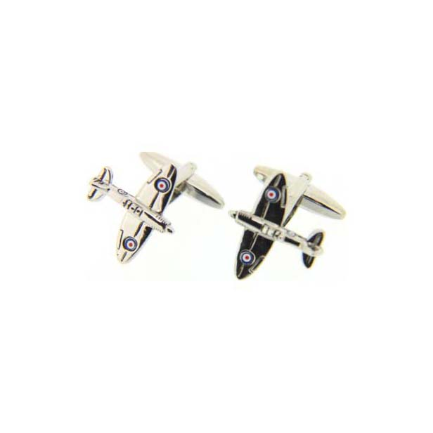 Spitfire Finely Detailed Enamelled Cufflinks