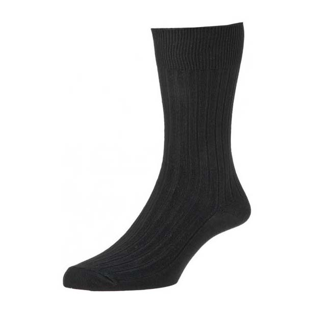 Black Cotton Rich Double Pack Socks