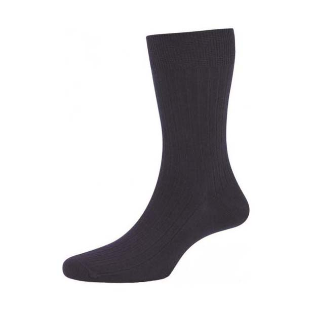 Navy Cotton Rich Double Pack Socks