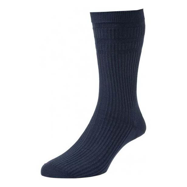Navy Softop Ventilated Cotton Rich Socks
