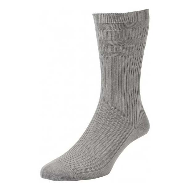 Mid Grey Softop Ventilated Cotton Rich Socks