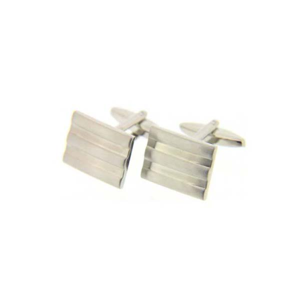 Rectangular Grill Cufflinks with Swivel Fitting