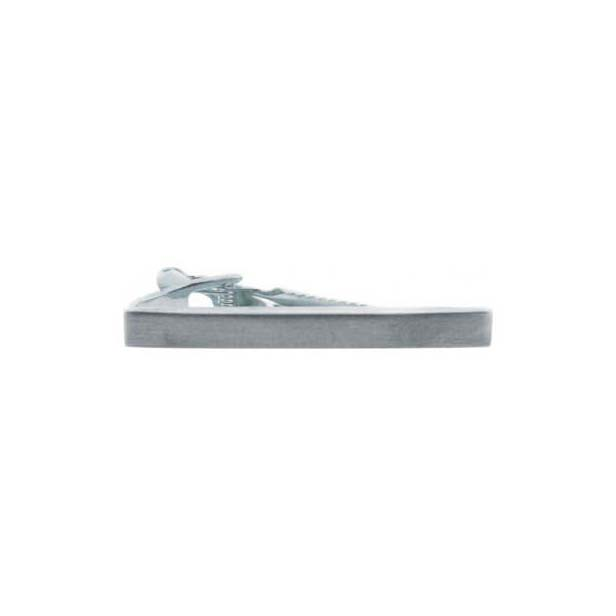 Brushed Silver Coloured Plain Tie Bar
