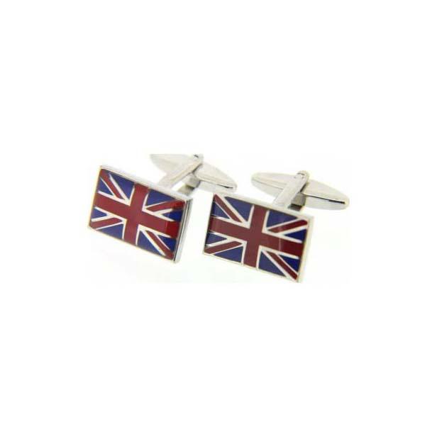 Union Jack Enamelled Cufflinks