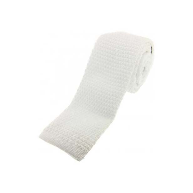 White Knitted Polyester Tie
