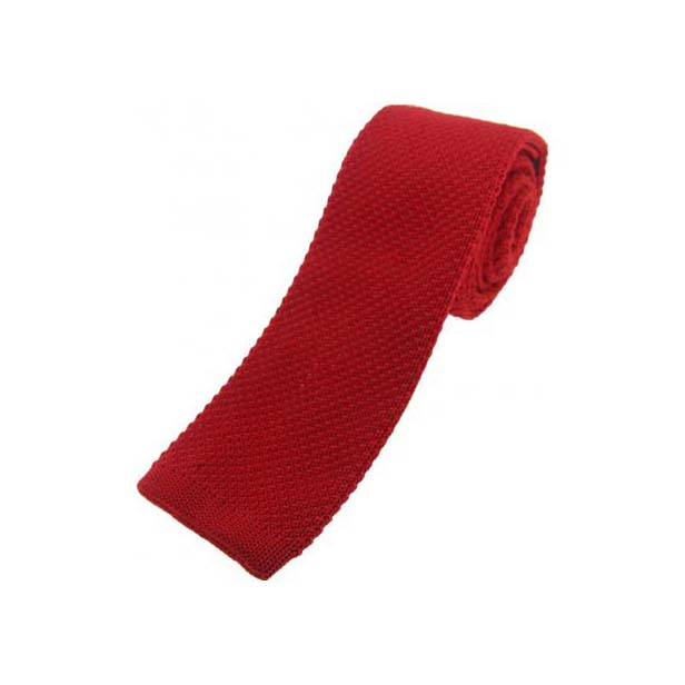 Red Knitted Polyester Tie