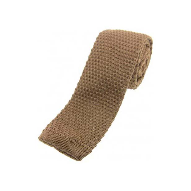 Stone Knitted Polyester Tie