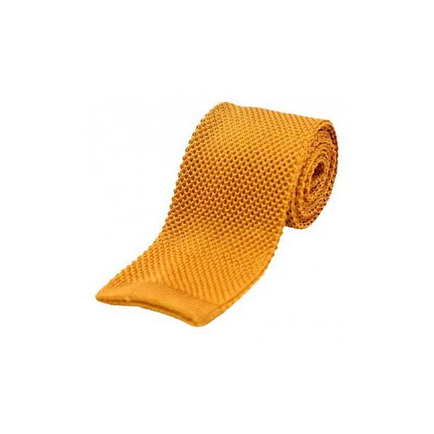 Light Burnt Orange Knitted Silk Tie