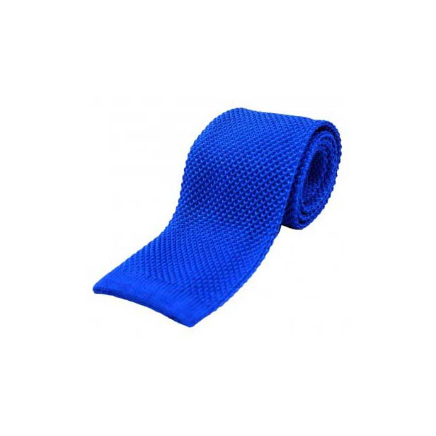 Royal Blue Plain Knitted Silk Tie