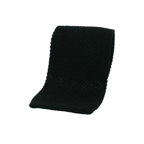 Black Knitted Silk Tie