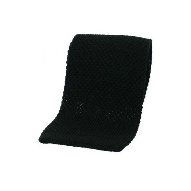 Black Knitted Silk Tie